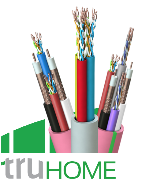 TruHome - Composite Cables for High-End Media Distribution Comprised of Coaxes, HDBaseT Cat 5E & Cat 6 and Building Control Cables